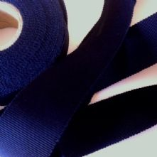 Navy Milliner's Petersham Ribbon in 2 Widths